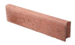 Betonikivi Lakka Nurmikon reunakivi 600 135x80x600mm Punainen