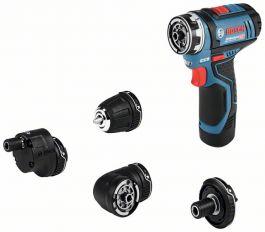 Akkuporakone/ruuvinväännin Bosch GSR 12V-15 FC, 2 x akkua 2,0 Ah