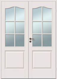 Pariovi Saaristo ovet Cremona lasitettu 6R valkoinen