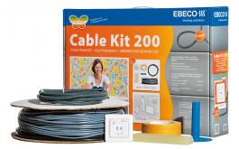 Lattialämmityspaketti Ebeco Cable Kit 200 1,3-2,7m² / 18,5m 200W