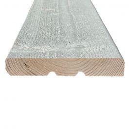 Hienosahattu ulkoverhouslauta 20x95 KHP Välimaalattu valkoinen