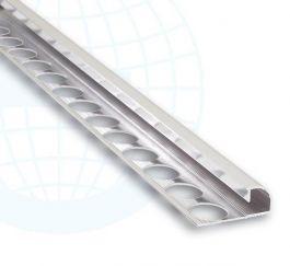 Kulmalista alum harjattu 10 mm pyöreä 171A