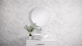 Kylpyhuonepeili Otsoson Rol 60 peili valkea