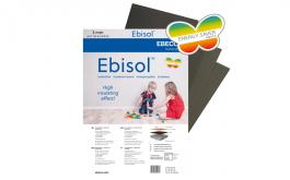 Lattialämmitys eristelevy Ebeco Ebisol 6mm 0,5x1,2m 6m²/pkt