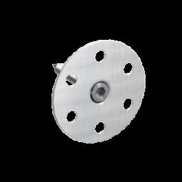 Märkätilalevyn O-kiinnike Tulppa 50mm + Rst-ruuvi 50kpl/pss
