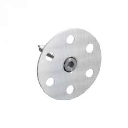 Märkätilalevyn O-kiinnike Tulppa 100mm + Rst-ruuvi 50kpl/pss