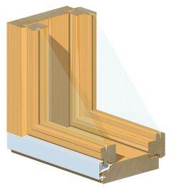 Mökki-ikkuna MS-SK 131mm 12X12 suojakäsitelty
