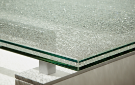 Rikottu pöytälasi Cracked Glass, Optiwhite kirkas