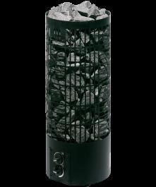 Sähkökiuas Mondex Tahko M Musta 6,6kW (6-9 m³) Kiinteä Ohjauskeskus