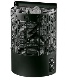 Sähkökiuas Mondex Teno M Musta 6,6kW (6-9 m³) Kiinteä Ohjauskeskus