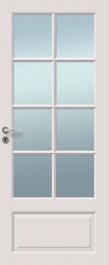 Väliovi, Saaristo Perinne-ovet, massiiivirakenne, 8-R Valkoinen