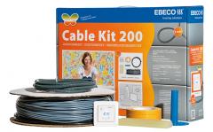Lattialämmityspaketti Ebeco Cable Kit 200 4,1-8,7m² / 58m 650W