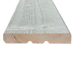 Hienosahattu ulkoverhouslauta 23x145 KHP Välimaalattu valkoinen
