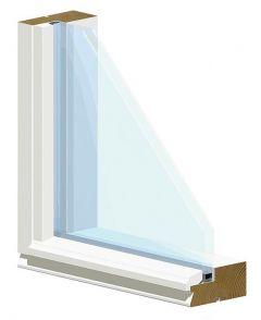Ikkuna MEK 2k 92mm Kiinteä Valkoinen 12X6