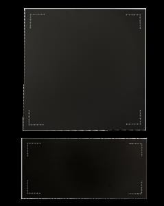 Misa Palosuojalevy 98X98 1mm Musta Kiukaan Sivulle
