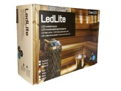 Saunavalosarja Overled LEDLite 12-valopistettä 3000k Hopea