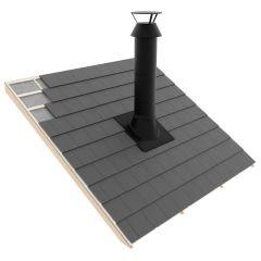Pyöreä pellityssarja huopakatolle 0-10° HärmäAir musta