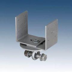 Ruuvipaalun säädettävä U-kenkä 90-135 mm vaakajuoksuille