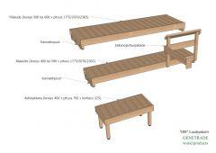 Sauna valmislaudepaketti Iisi 2070 mm tervaleppa +Porras +Jalkatuki