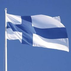 Suomen lippu 9m lipputankoon 150x245cm
