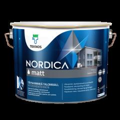 Talomaali Teknos Nordica Matt 9 litraa musta