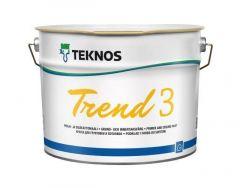 Trend 3 pohja- sisäkattomaali 9l Teknos