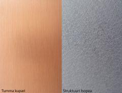 Keittiön välitilalevy Alumocci 1220X3050 Kupari / Struktuuri hopea
