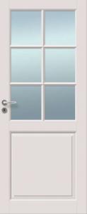 Väliovi, Saaristo Perinne-ovet, massiiivirakenne, 6-R Valkoinen