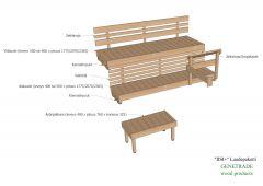 Sauna Valmislaudepaketti Iisi Plus 2070mm tervaleppa